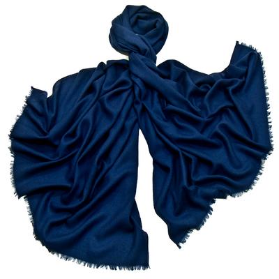 Etole laine bleu marine fine et douce premium