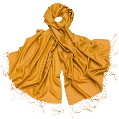 Etole jaune soie viscose baroque