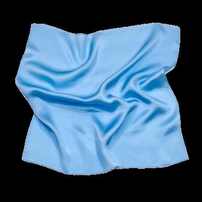 Foulard en soie bleu ciel carré mini 50 x 50 cm premium