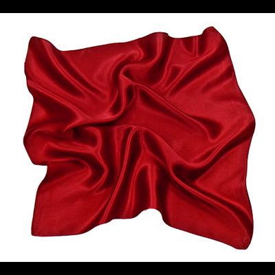 Foulard en soie rouge carmin carré mini 50 x 50 cm premium
