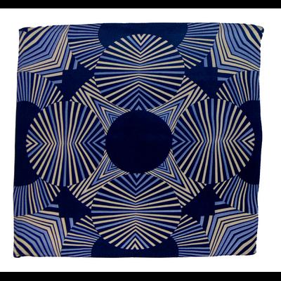 Foulard en soie bleu marine hypnotic 50 x 50 cm premium