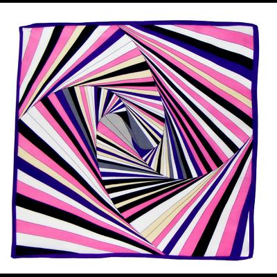 Foulard en soie rose psyché 50 x 50 cm premium