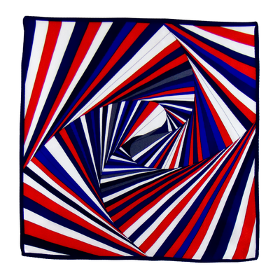 Foulard en soie rouge psyché 50 x 50 cm premium