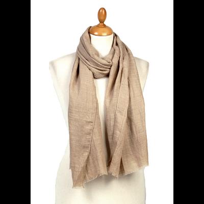 Foulard chèche beige lin coton premium