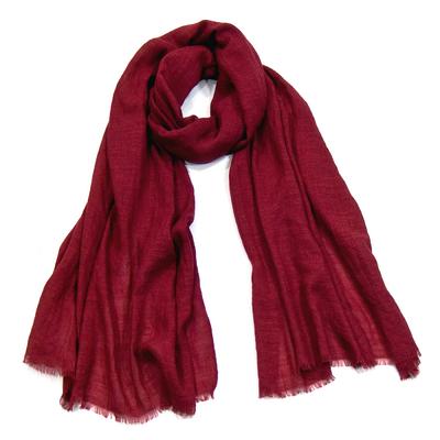 Foulard chèche bordeaux lin coton premium