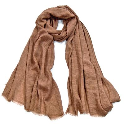Foulard chèche camel lin coton premium