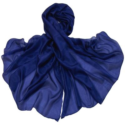 Etole en soie bleu marine premium