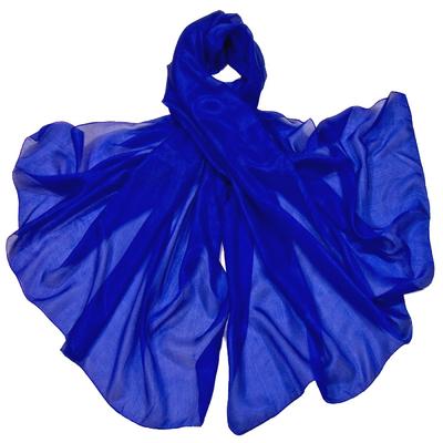 Etole en soie bleu klein premium