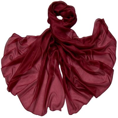 Etole en soie rouge bordeaux premium