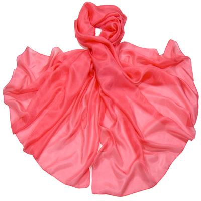 Etole en soie corail rosé premium