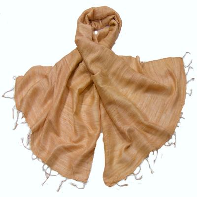 Etole beige en soie sauvage