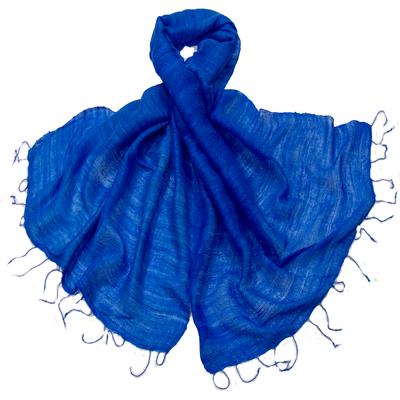 Etole bleu klein en soie sauvage