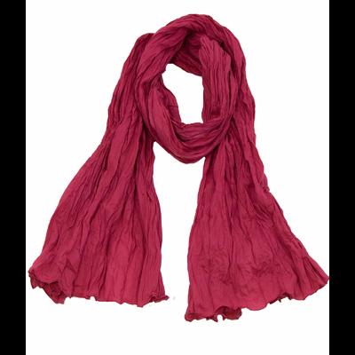 Chèche rose foncé en coton froissé