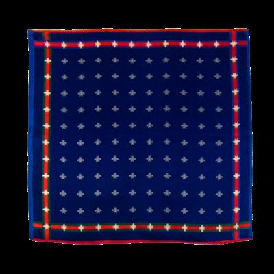 Foulard en soie bleu marine abeilles 50 x 50 cm premium