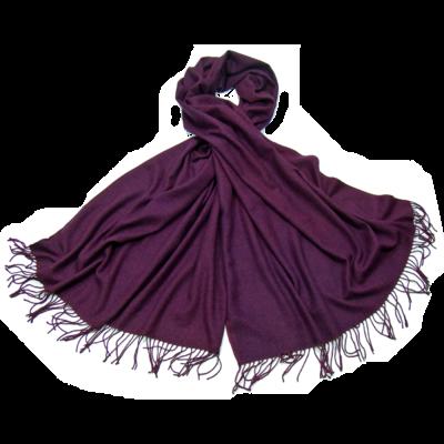 Etole violet cachemire et laine Edition limitée