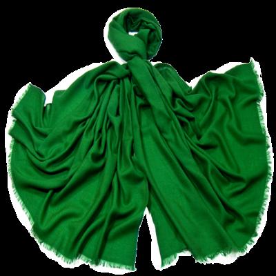 Etole laine vert fine et douce premium