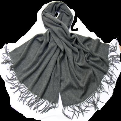 Etole gris foncé en laine