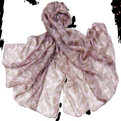 Etole en soie rose mini cachemire premium
