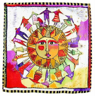 Foulard en soie satin rouge soleil premium 90 x 90 cm
