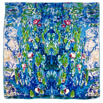 Foulard en soie carré artysilk les nymphéas Claude Monet