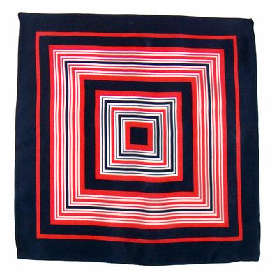 Carré de soie foulard marine rouge marina 50x50 premium