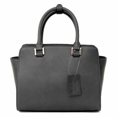 sac en cuir femme gris pompon 2