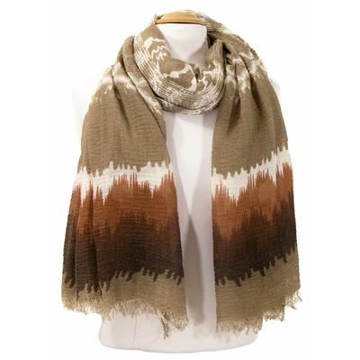 Foulard chèche beige tie and dye
