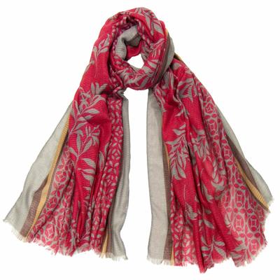 Foulard chèche rouge bambous