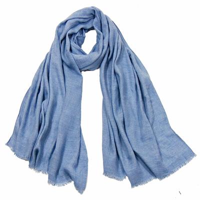 Foulard chèche bleu homme premium