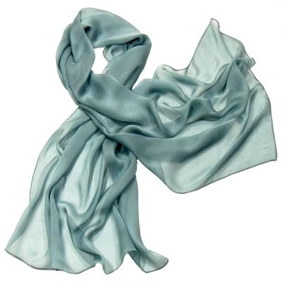 Etole bleu gris mousseline de soie premium