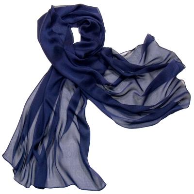 Etole bleu marine  mousseline de soie premium