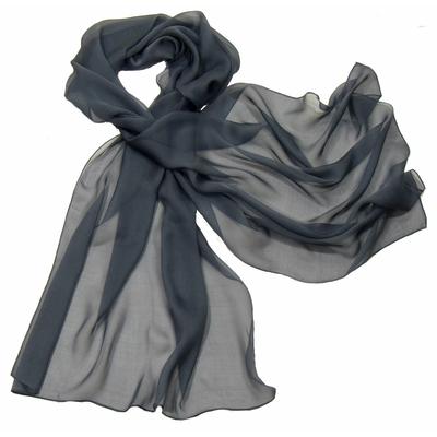 Etole gris anthracite mousseline de soie premium