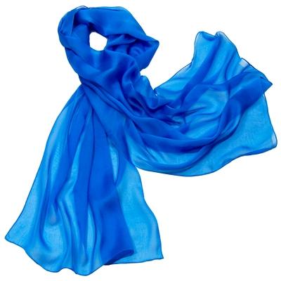 Etole bleu azur mousseline de soie premium