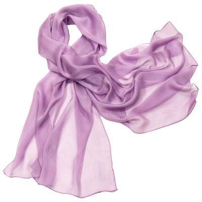 Etole mauve lilas mousseline de soie premium