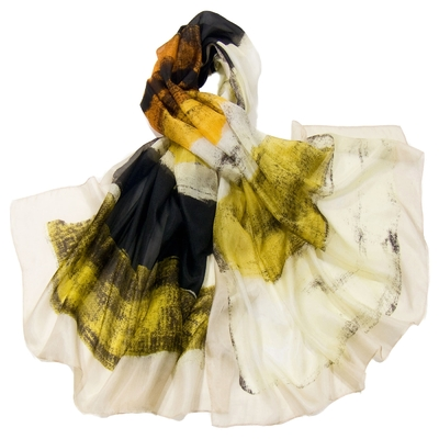 Etole en soie grège tie and dye premium