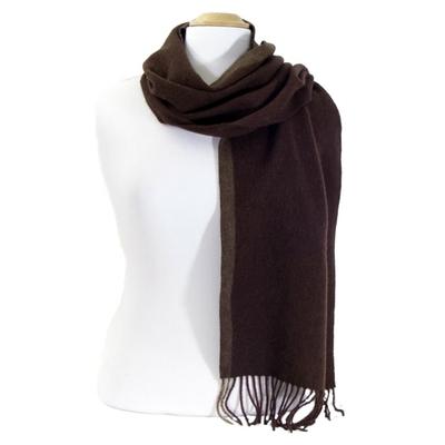 Echarpe en laine chocolat rayure