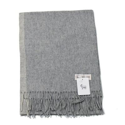 echarpe laine tissee gris rayure 1-min