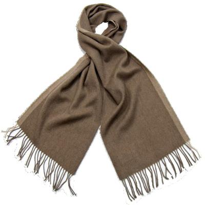 Echarpe en laine beige rayure