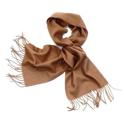 Echarpe beige en laine tissée