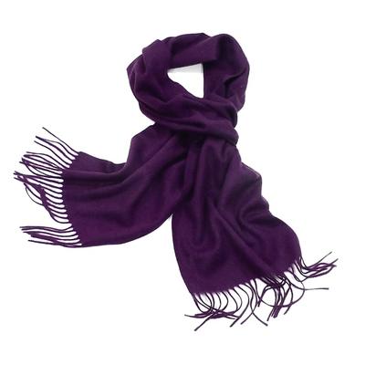 Echarpe prune en  laine tissée