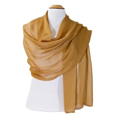 Etole beige camel mousseline de soie premium