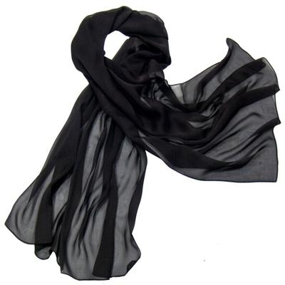 Etole noir mousseline de soie premium