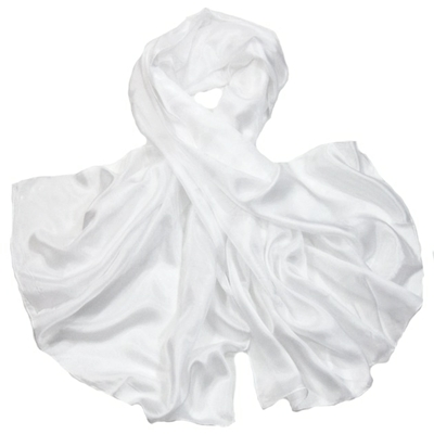 Etole en soie blanc premium