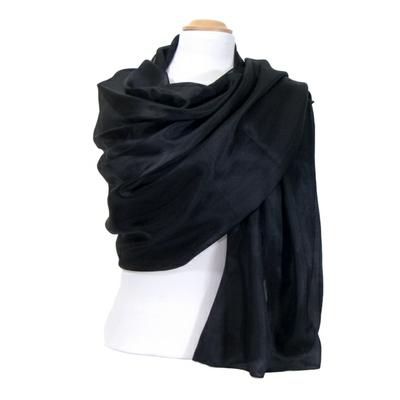 Etole en soie noir premium