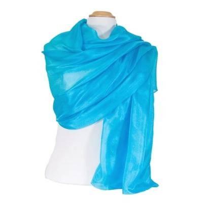 Etole en soie bleu turquoise premium