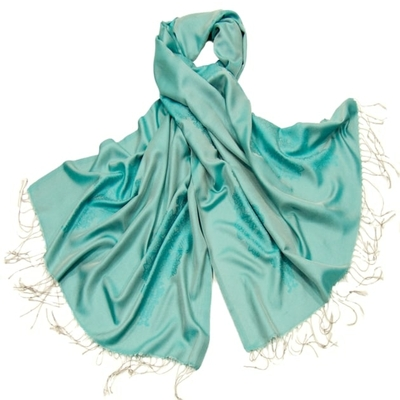 Etole bleu turquoise soie viscose baroque