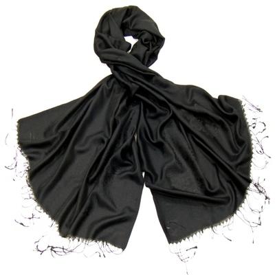 Etole noir soie viscose baroque