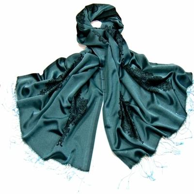 Etole turquoise soie viscose baroque