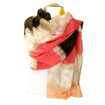 Etole en soie pêche tie and dye premium