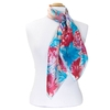 foulard carré de soie bleu roses 2-min